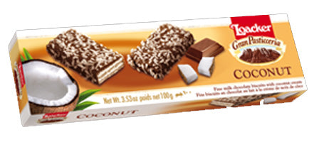 Loacker Coconut Milk Chocolate Biscuits, 100g