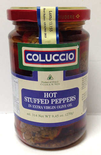 Coluccio Hot Stuffed Peppers, 270g