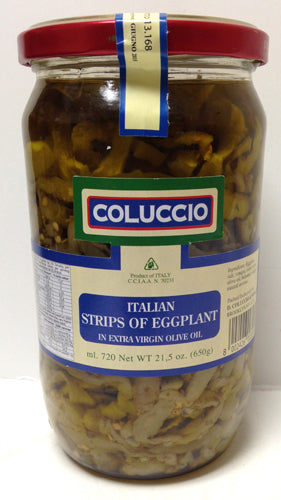 Coluccio Italian Strips of Eggplant in EVOO, 650g