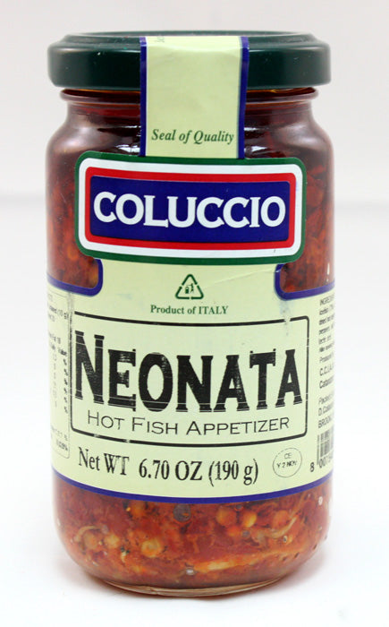 Coluccio Neonata Hot Fish Appetizer 6.70 oz Jar