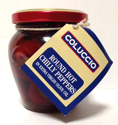Coluccio Round Hot Chilly Peppers in EVO 6.70 oz