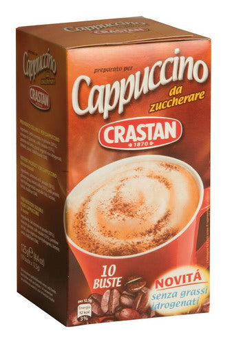 Crastan UNSWEETENED CAPPUCCINO - 10 single-portion bags