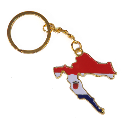Croatia Country Shape Keychain