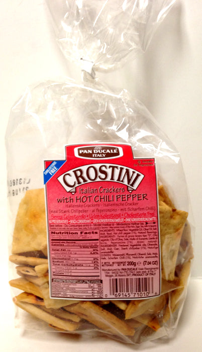 Crostini Italian Crackers with Hot Chili Pepper, 200g