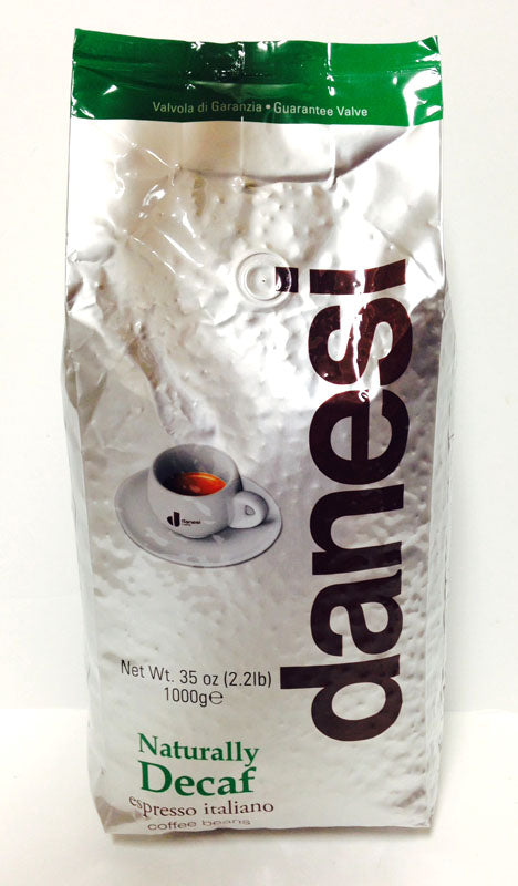Danesi Naturally Decaf, Coffee Beans, Espresso Italiano, 1000g