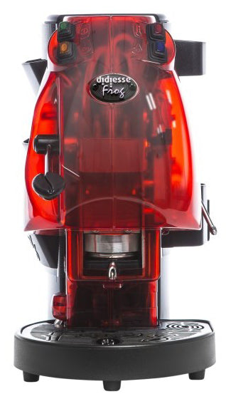 Didiesse Espresso Machine FROG with Cappuccino, RED TRANSPARENT