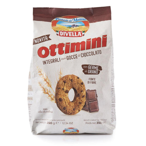 Divella Ottimini Whole Wheat with Chocolate Chip Cookies, 14 oz | 400g
