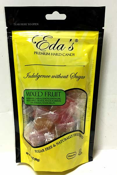 Eda's Sugar Free Mixed Fruit Candy, 3.5 oz (99g)