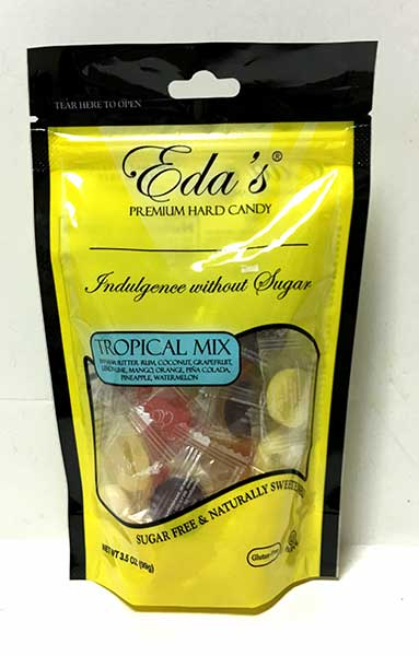 Eda's Sugar Free Tropical Mix Candy, 3.5 oz (99g)