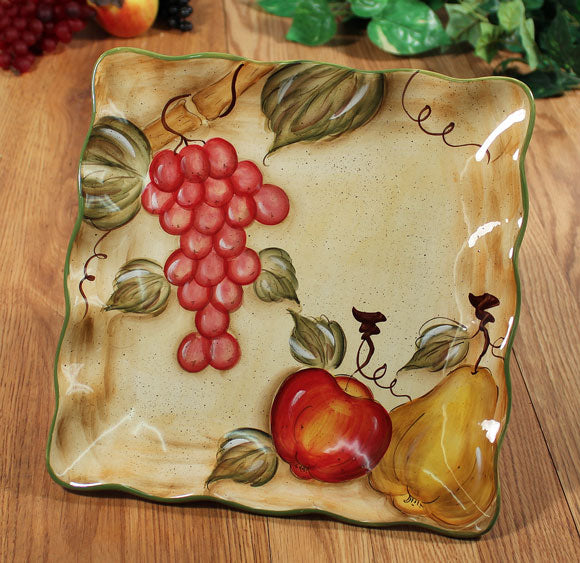 "Elisa Collection Square Platter 11"" x 11"""
