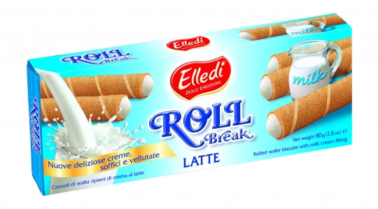 Elledi Roll Break Latte (Rolled Wafers Milk) 2.8 oz