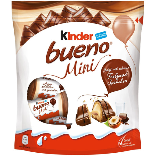 Kinder Mini Bueno Hazelnut Chocolate Candy, 108g
