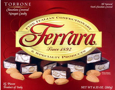 Ferrara Dark Chocolate Covered Torrone 6.35 oz (180g) 18 pieces