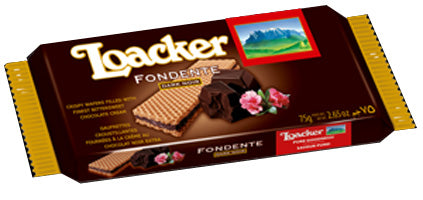 Loacker Fondent, Dark Noir Wafer, 75g
