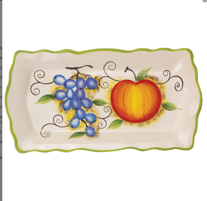 "Fruit Rectangular 15"" Platter"
