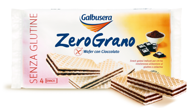 Galbusera Gluten Free ZeroGrano Wafer with Chocolate  180g