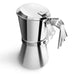 Giannina 3 / 6  Cup Espresso Machine, Stainless Steel