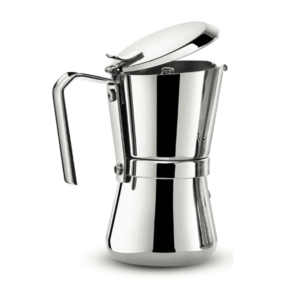 Giannina 3 / 6  Cup Stove Top Espresso Machine, Stainless Steel