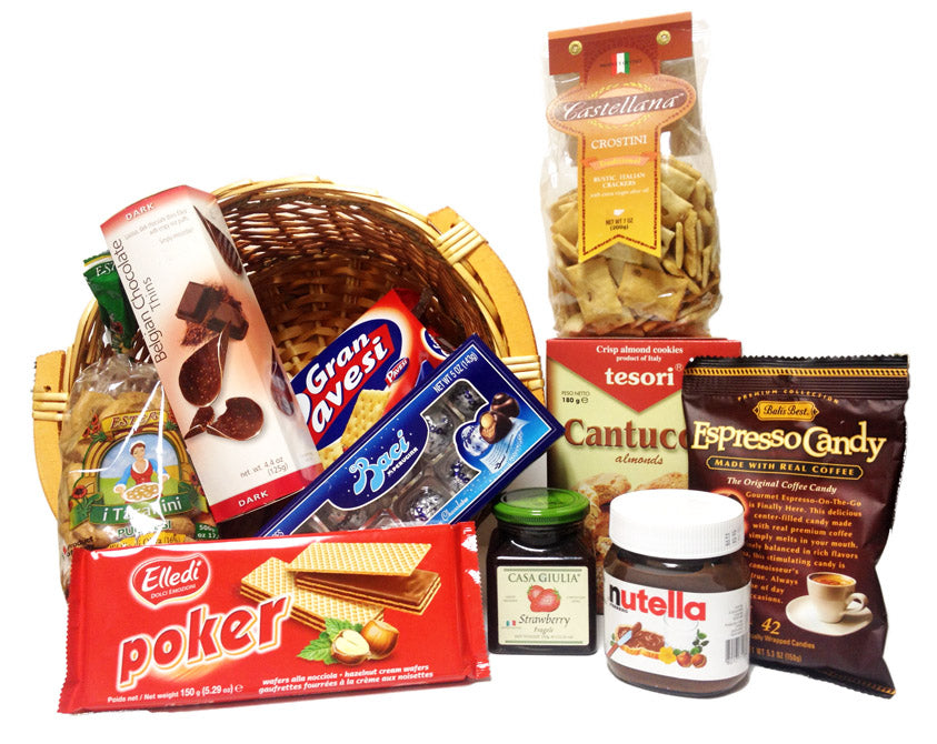 Italian Snack Gift Basket Perfect for Offices
