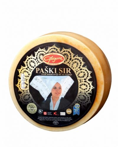 Gligora Paski sir (Pag Cheese) Full Wheel, Appox 2.8 kg (6 lb)