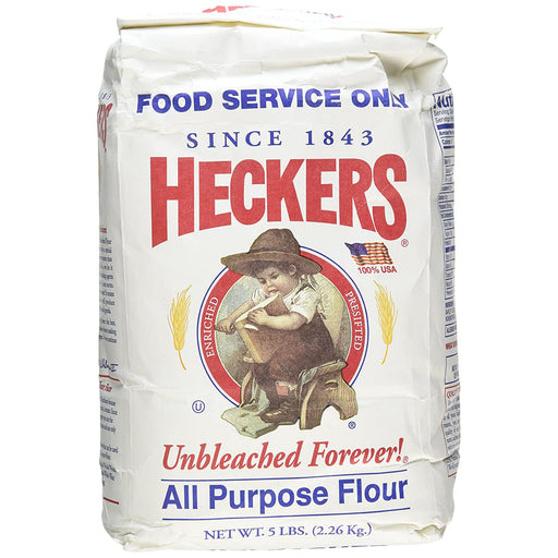 Heckers Unbleached All Purpose Flour, 5 lb | 2.26 kg