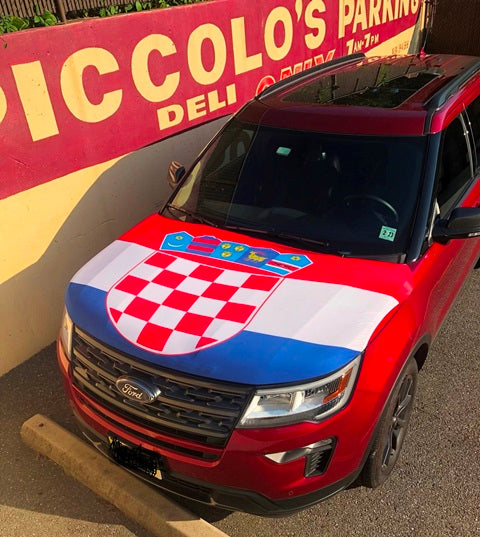Croatia Flag Hood Cover