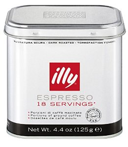 illy Espresso Portions Servings Roasted Coffee, 18 Pods can
