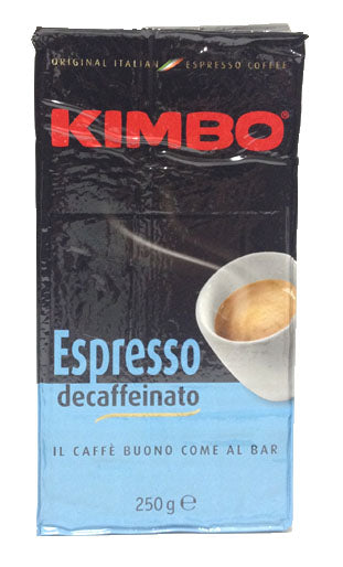 Kimbo Espresso Decaffeinato Ground Coffee in Bag, 8.8oz/250g