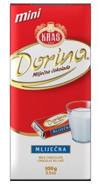 Kras Dorina Milk Chocolate Bar, 80g