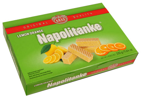 Kras Napolitanke Lemon Orange wafers 330g