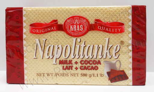 Kras Napolitanke Milk and Cocoa Wafers 500g