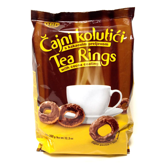 Kras Tea Rings with Cocoa Coating, 350g