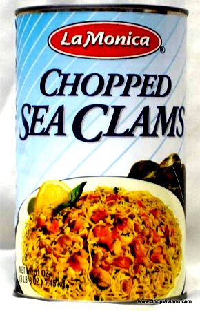 LaMonica Chopped Sea Clams 51 oz (3 lb 3 oz)