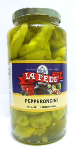 La Fede Pepperoncini Peppers 32 oz Jar