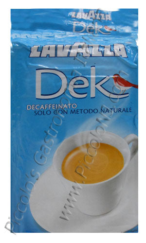LavAzza Dek Decaf Espresso (Ground), - 8.8 oz vacuum pack
