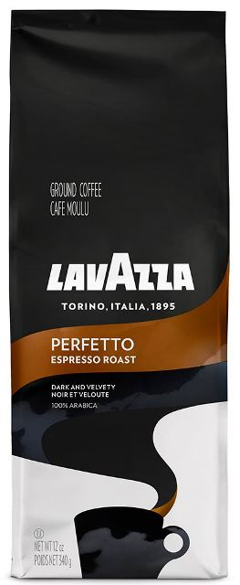 Lavazza Perfetto Ground Coffee, Medium Espresso Roast, 12-oz