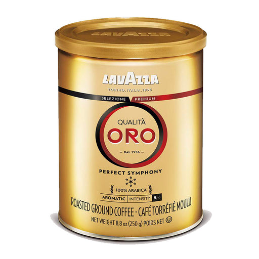 LavAzza Qualita Oro, Ground Coffee, 8.8 oz | 250g Can