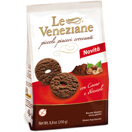 Le Veneziane Gluten Free Cookies with Chocolate & Hazelnuts 250g
