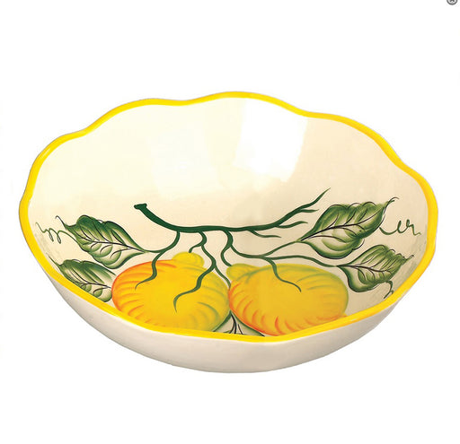 "Lemon Design Square 11"" Bowl"
