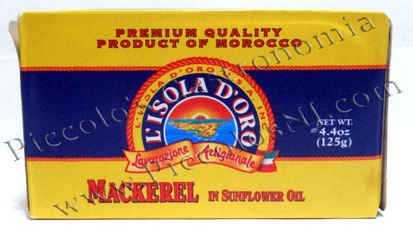 L' Isola D' Oro Mackerel in Sunflower Oil 4.4 oz.