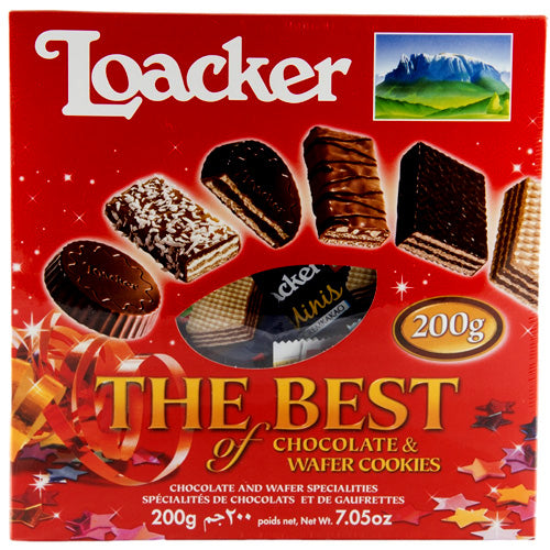 Loacker The Best of Chocolate & Wafer Cookies, 200g