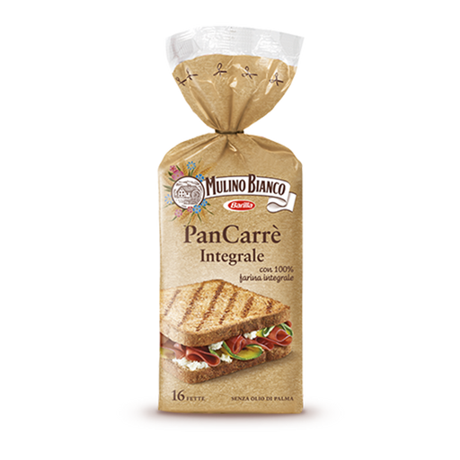 Mulino Bianco PanCarre Whole Wheat (Intergrale), 16 pc
