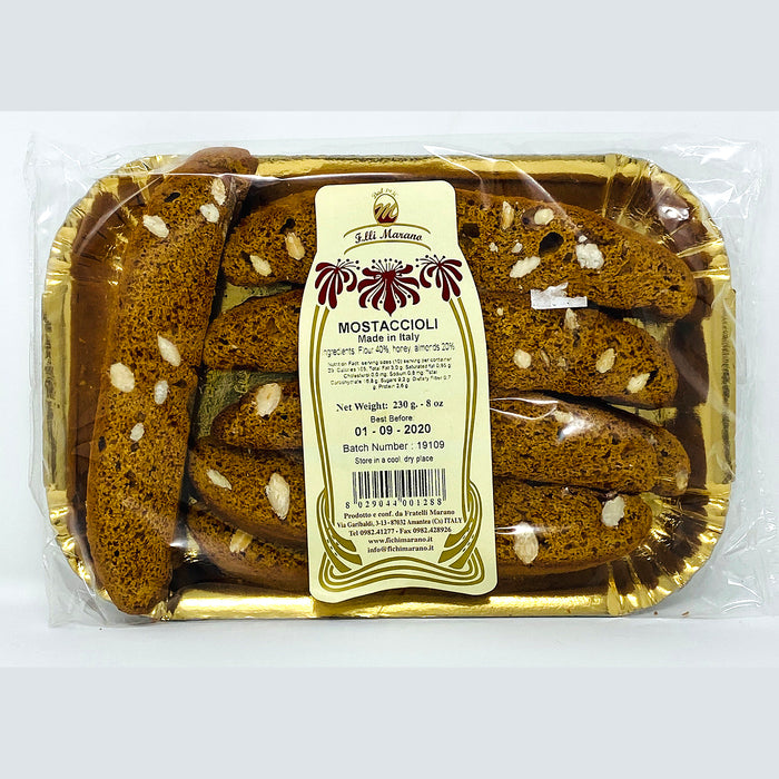 Marano Biscotti made with Honey, 8 oz