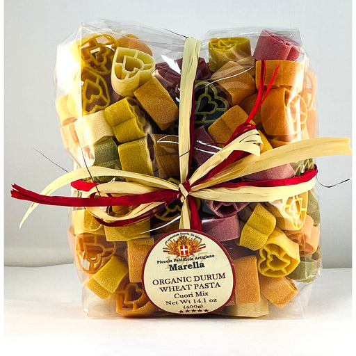 Marella Heart Mix, Cuori Mix Organic Pasta from Italy, 14.1 oz