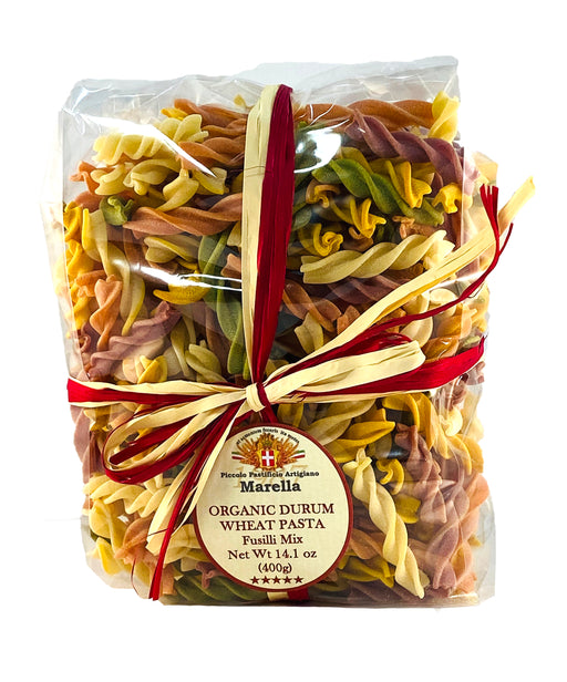 Marella Fusilli Mix Organic Pasta from Italy, 14.1 oz