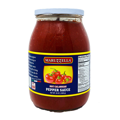 Maruzella 100% Calabrian HOT Pepper Sauce, 35 oz | 1000g