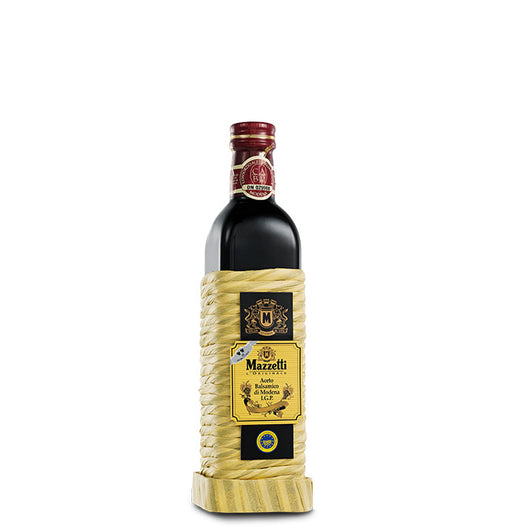 Mazzetti Balsamic Vinegar 2 leaf Rating, Rattan Wrapped Bottle, 16.09 fl oz