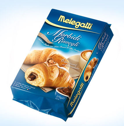 Melegatti Morbidi Risvegli Croissant with chocolate, 9.52 oz