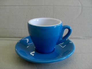 Nuova Point - Milano Espresso Cups and Saucers, Blue, Set of 6
