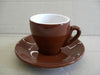 Nuova Point - Milano Espresso Cups and Saucers, Brown, Set of 6